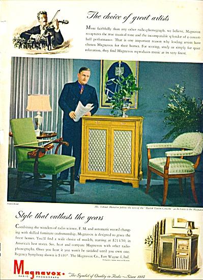 1946 -  Magnavox radio phonograph ad (Image1)