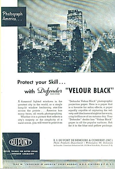 1948 -  Dupont Velour blackphotographic paper (Image1)