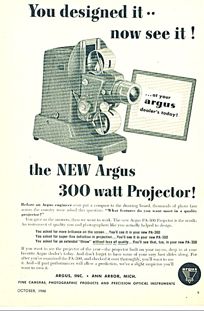 1948 -  The new Argus projector ad (Image1)