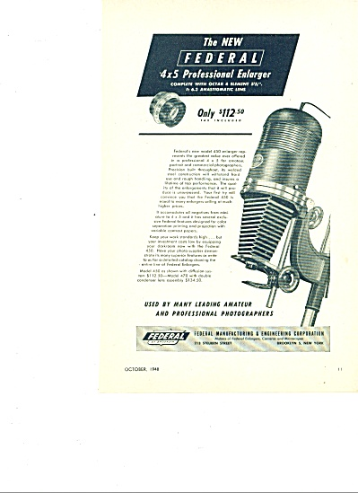 1948 -  The Federal picture enlarger ad. (Image1)