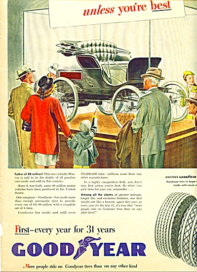 1946 Goodyear Tire Ad
