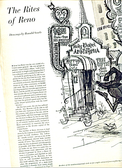 1965-The Rites of Reno by artist RONALD SEARL (Image1)