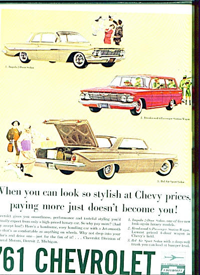 1961  Chevrolet for 1961 ad (Image1)