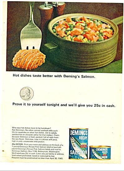 1965 -  Demings recipe  pink Salmon ad (Image1)
