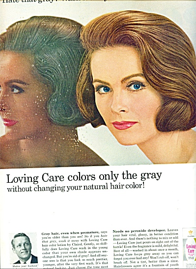 1965 -  Loving care hair color lotion ad (Image1)