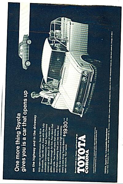 1968 - Toyota Corona ad (Image1)