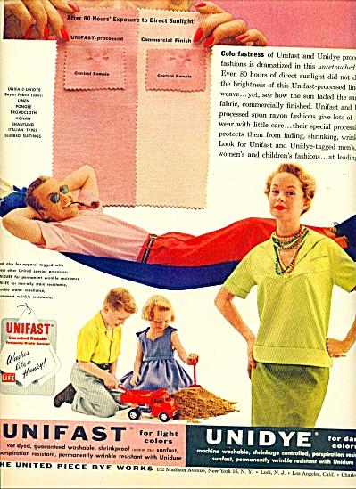 1955 -  Unidye - Unifast  dye works ad (Image1)