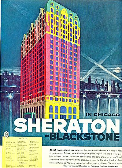 1955 -=  Sheraton blackstokne hotel in chicag (Image1)