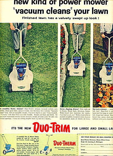 1955 -  Duo Trim - Duo therm lawn mowers ad (Image1)