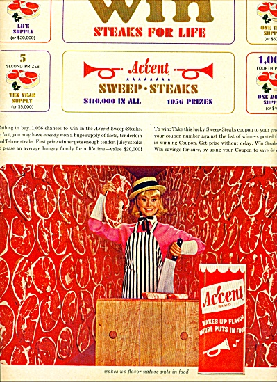 1965 - Accent  wakes up flavor ad (Image1)