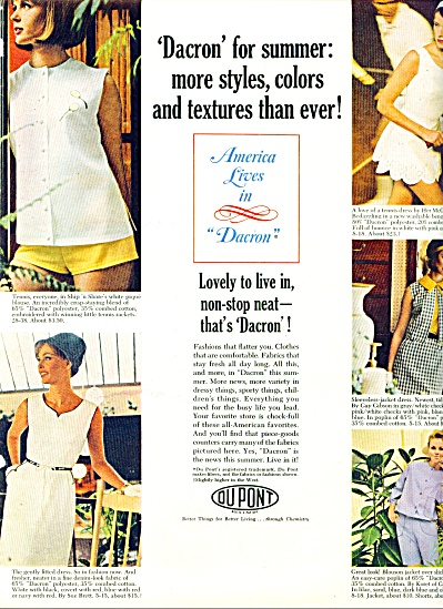1964 - Dupont dacron clothes ad Fashion Model (Image1)