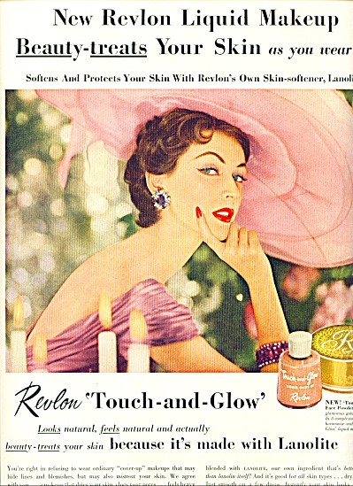 1955 - Revlon Touch And Glow Ad