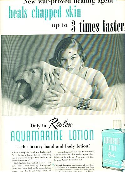 1955 -  Revlon Aquamarine lotion ad (Image1)