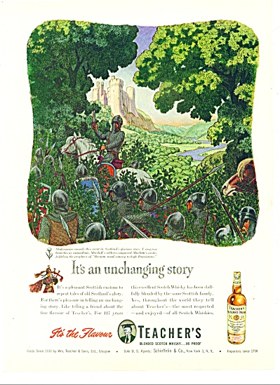 1947 -  Teacher's blended scotch whisky ad (Image1)