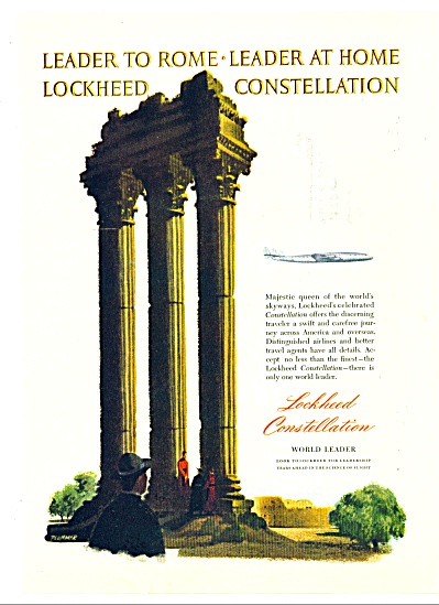 1947 - Lockheed Constellation Ad