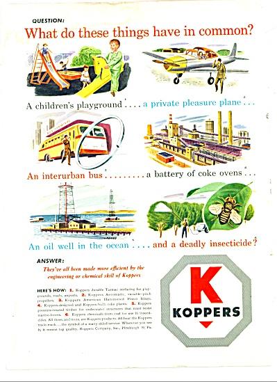 1947 -  K - Koppers tarmac surfacing ad (Image1)