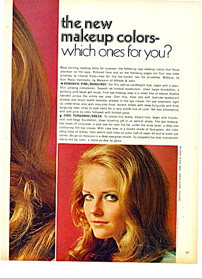 1970 -  The new makeup colors 4PG TIEGS +++ (Image1)