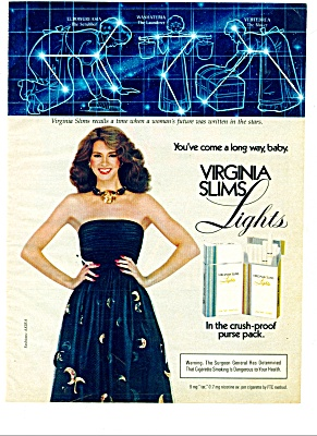 1982 -  Virginia slims lights cigarettes ad (Image1)