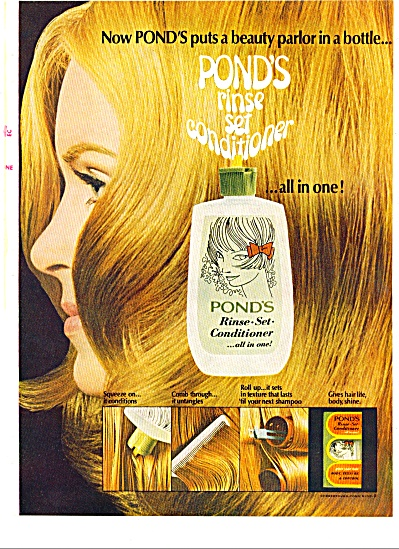 1970 -  Ponds rinse set conditioner ad (Image1)