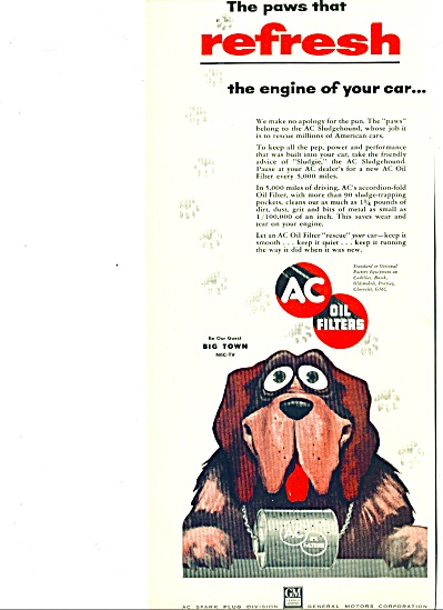 1955 - A C Oil Filters Ad