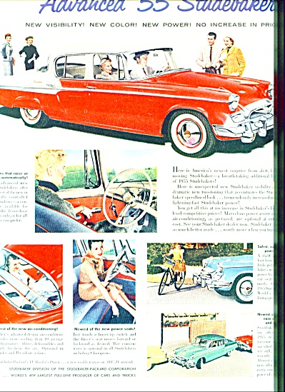 1955 -  Studebaker auto for 1955 ad (Image1)
