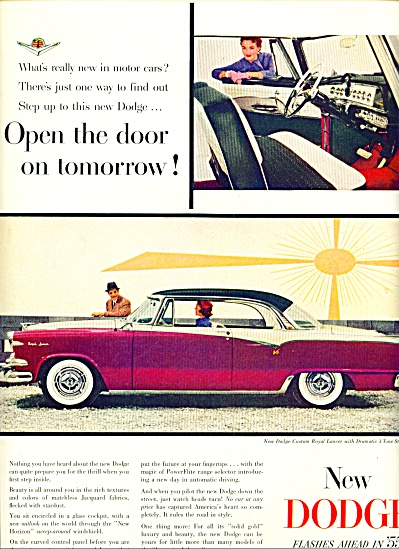 1955 - New Dodge for 1955 ad (Image1)