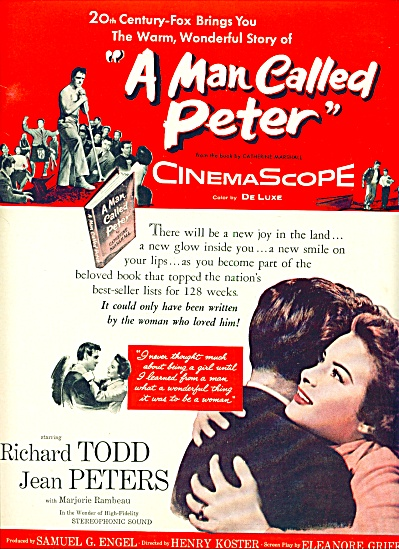 1955 - Movie: A Man Called Peter -jean Peter