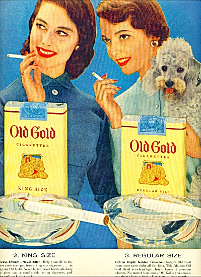 1955 - Old Gold cigarettes ad (Image1)