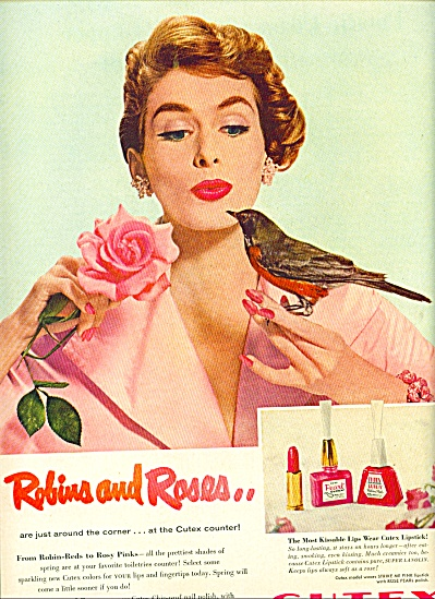 1955 - Cutex Robins and roses ad (Image1)