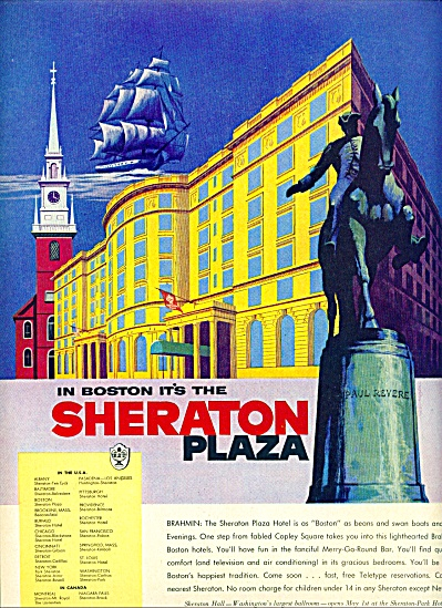 1955 -  Sheraton Hotels - Boston ad (Image1)
