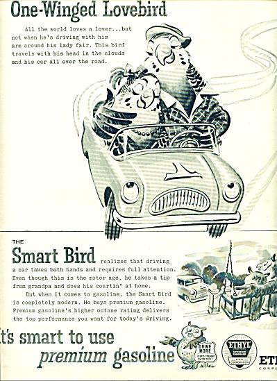 1955 -  Ethyl premium gasoline ad. (Image1)
