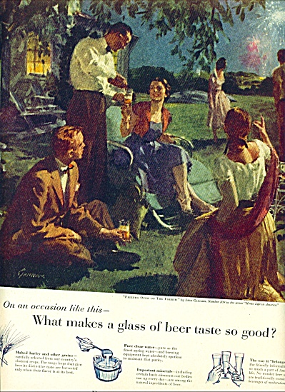 1955 -  Beer enjoyment ad (Image1)