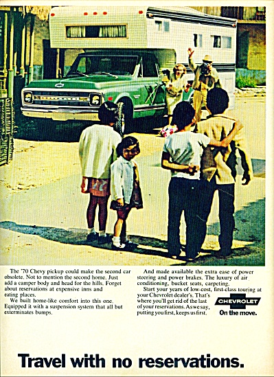 1970 - Chevrolet Travel Ad