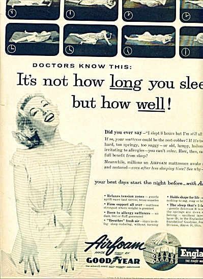 1956 - Goodyear airfoam englander ad (Image1)