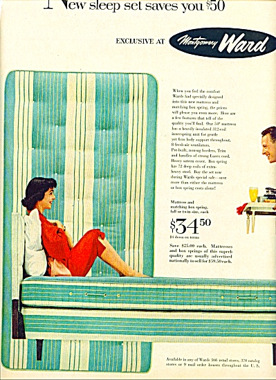 1956 -  Montgomery Ward sleep set ad (Image1)