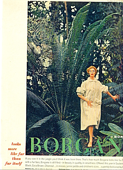 1956 - Borg fabric - Borgana ad (Image1)