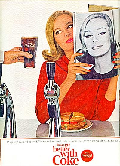 1964 COKE  Coca Cola ad ANNE DE ZOGHEB (Image1)