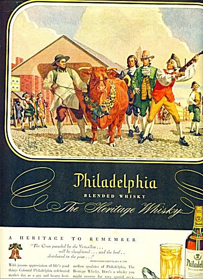 1947 -  Philadelphia blended whisky ad (Image1)