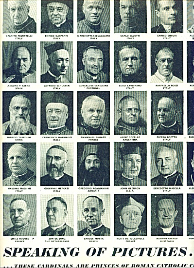1946 -  Cardinals of the Catholic Church. (Image1)