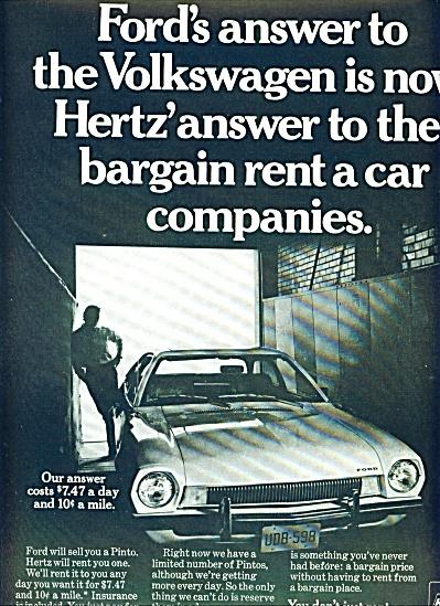 1970 - Hertz Rent a car ad (Image1)