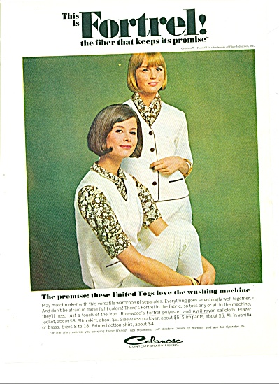 1964 -  Celanese contemporary fibers ad (Image1)