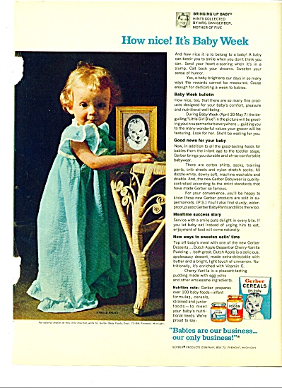 1966 -  Gerber Cereals for baby ad (Image1)