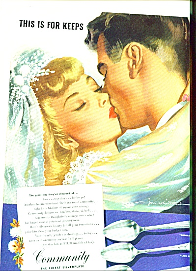 1946 - Community silverware ad (Image1)