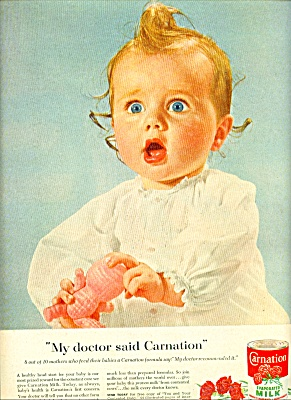 1955 -  Carnation evaporated milk ad (Image1)