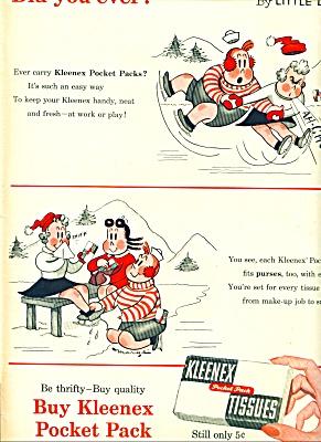 1955 =-  Kleenex tissues ad (Image1)