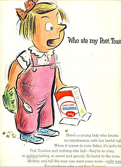 1955 -  Post Toasties corn flakes ad (Image1)
