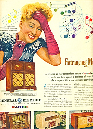 1946 -  General Electric radios -HILDEGARDE (Image1)