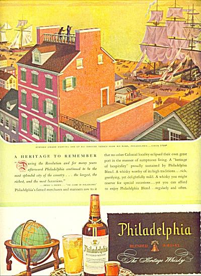 1946 -  Philadelphia blended whisky ad (Image1)