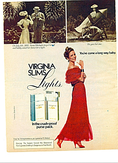 1981 - Virginia Slims cigarettes ad (Image1)