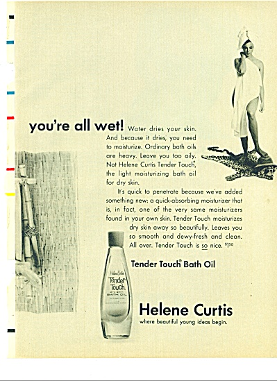 1966 HELENE CURTIS MODELS IN BATHTUB ADS (Image1)